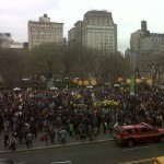 The Million Hoodie March in NYC on March 21 called for Justice for Trayvon