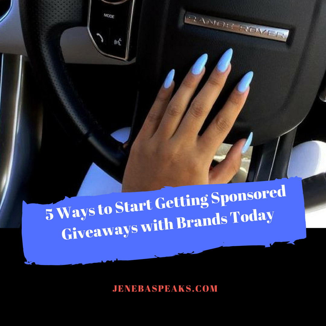5 Ways to Start Getting Sponsored Giveaways with Brands (10 Min Podcast)