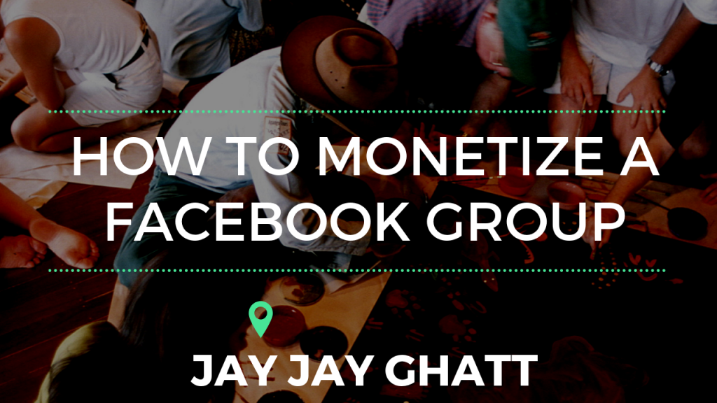 How to monetize a facebook group (1)